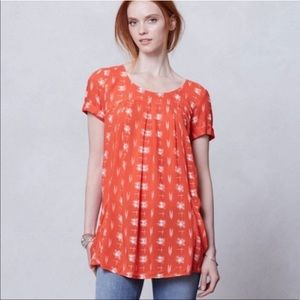 Anthropologie Holding Horses Printed Tunic Top
